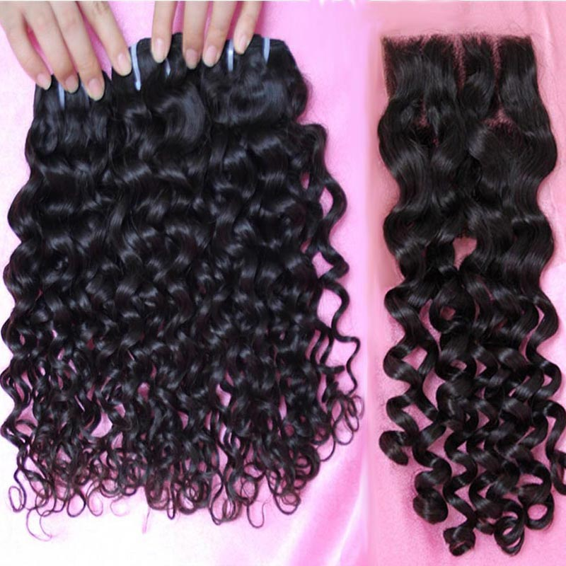 10A Brazilian Italian Curl Hair With Closure 100% Unprocessed Virgin Brazilian Italian Curly Human Hair Extensions with Closure<br><br>Aliexpress
