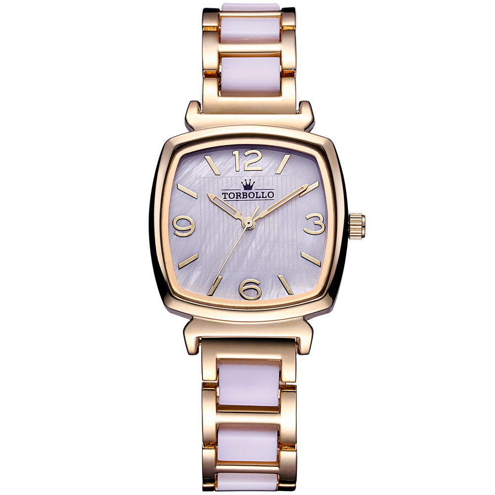 NEW Brand Luxury Womens Quartz Watch Alloy Simulated Ceramic Strap Watch Female Yellow Gold with BOX<br><br>Aliexpress