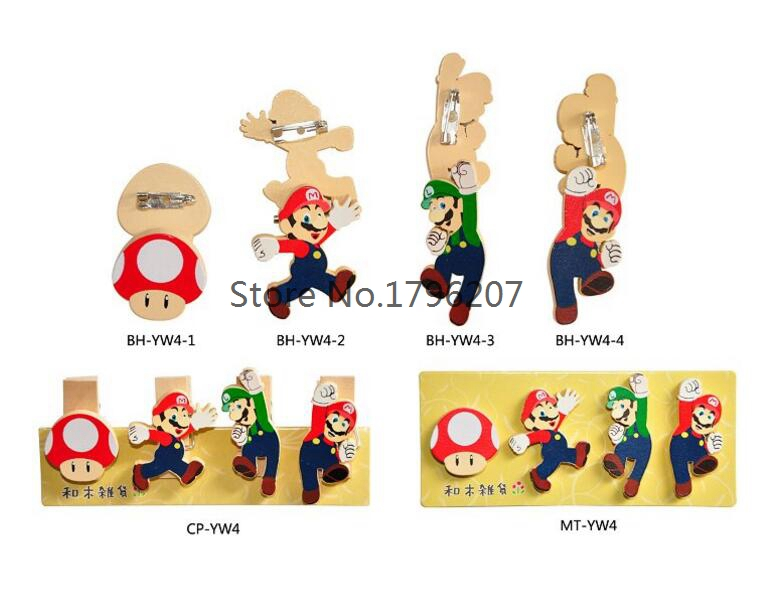 Ingenious Super Mario Brothers Mushroom Metal Pins Brooches Cute Bag Breastpin Pin 1pcs Brooches & Pins Jewellery & Watches