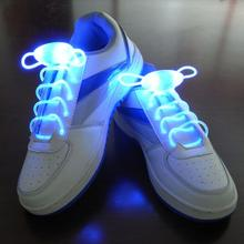 30pair Party Skating Charming LED Flash Light Up Glow Shoelaces Shoe Laces Shoestrings(China)