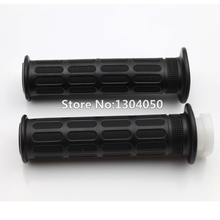 Black Grips Grip Set w/ FREE Throttle Cable Tube Handlebar Grips Sleeve For MX Dirtbike Offroad new