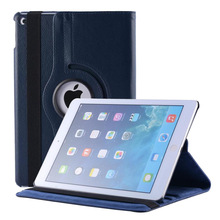 For ipad air 1 case 360 rotating case for apple ipad air 1 litchi pattern PU leather protective cover tablet accessories(China)