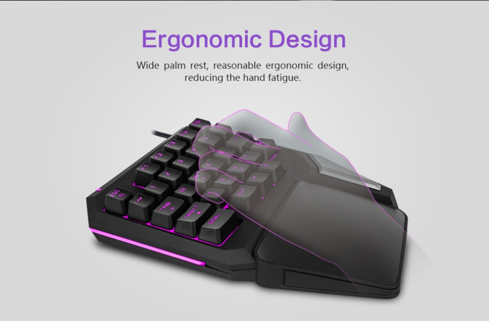 DELUX T9 PRO Gaming mini keyboard usb mouse portable  pc mice keyboard with backlight 7Color mouse 800 to 5000DPI for laptop