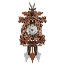 Vintage Home Decorative Bird Wall Clock Hanging Wood Cuckoo Clock Living Room Pendulum Clock Craft Art Clock For New House(China)