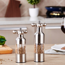 1pcs Kitchen Creative gadgets kitchen knife Pepper mill Black Pepper mill Garlic mill Spice the grinder color random(China)