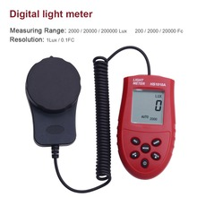 Hot Sale 200,000 Digital Light Meter Luxmeter Lux/FC Meters Luminometer Photometer light meter 3 Range Lux NI5L(China)