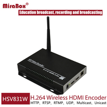 HSV831W MPEG-4 H.264 HDMI Wireless Encoder for Live Stream Broadcast Support UDP/HTTP/RTSP/RTMP protocol for Unicast/Multicast