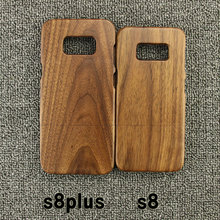 Wooden Case -Rosewood -Walnut Wood-Natural Handmade Bamboo Cover Shell Phone Case For Samsung Galaxy S8 S8 Plus Protector(China)