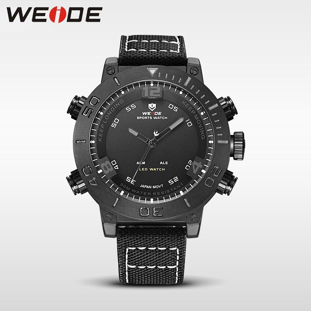 WEIDE casual genuine military watch luxury quartz watch sport digital nylong army clock watch waterproof role relogio masculino<br>