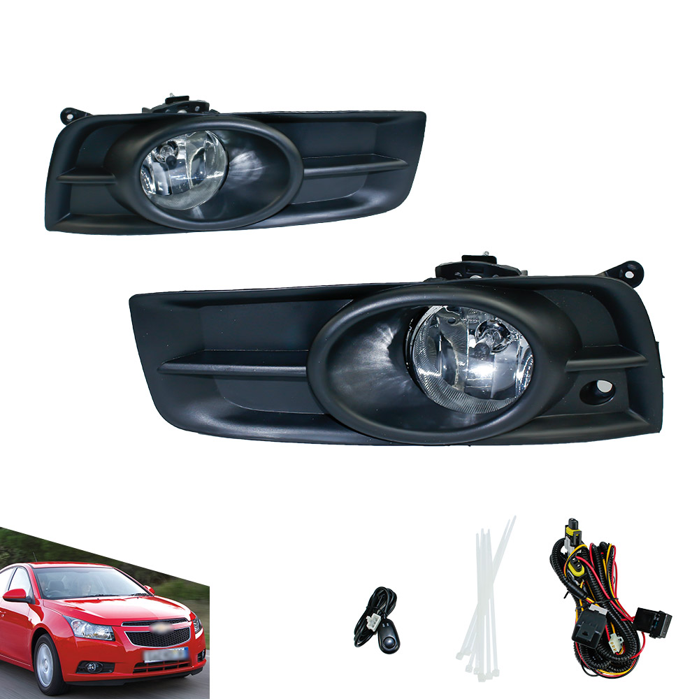 Fog light for 2009 - 2013 Chevy Chevrolet Cruze fog lamps Grille W/H8 Clear Lens Bumper Fog Lights Driving Lamps   YC100919-CL<br><br>Aliexpress