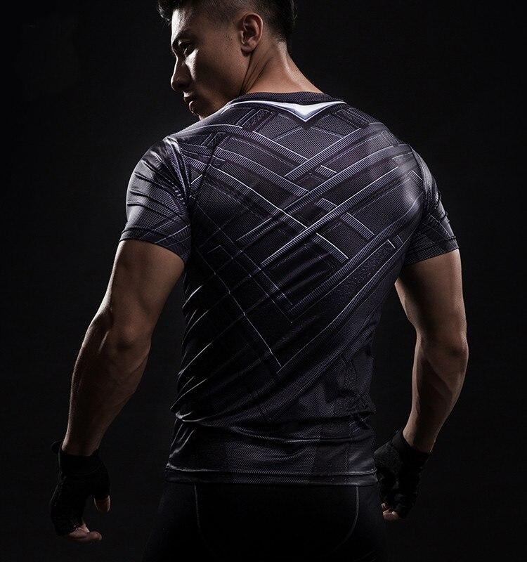 Short Sleeve 3D T Shirt Men T-Shirt Male Crossfit Tee Captain America Superman tshirt Men Fitness Compression Shirt Punisher MMA 39