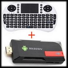 by DHL or EMS 10 sets MK809IV Mini PC+Air mouse keyboard Quad Core TV Box RK3188 2G/8GB Bluetooth Wifi TV Player HDMI(China)