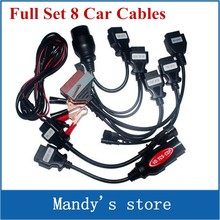 OBD2 Cables full set 8 car cables of car For VD TCS CDP Pro plus vd tcs cdp Car Cable diagnostic Tool Interface cable(China)