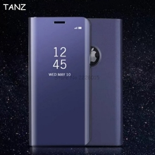 Buy TANZ iphone 8 plus Electroplate Mirror Smart View Window Leather Stand Flip Case Cover iphone X 6 6S 7 plus 6plus 7plus for $5.95 in AliExpress store