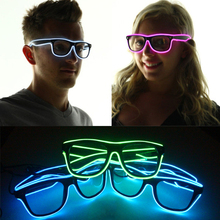 3 Modes Blue El Wire Led Glasses Fashion Neon Luminous Party Lighting Colorful Glowing Classic Toys for Dj Bright Sun Glasses