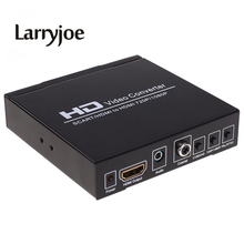 Larryjoe Scart To HDMI Converter Audio Video Upscale AV PAL NTSC Signal Adapter HD Receiver 3D For HDTV Projector DVD