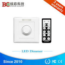 Free Shipping! bc320 350mA LED Dimmer, IR remote control DC12V 48V 350mA PWM dimmer with Infinite knob