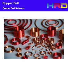 Self-bonding RFID Copper Coil 125KHz 13.56MHz Low High Frequency Reader ID/IC Card Antenna 42.3*24.6mm Inner Size Customized