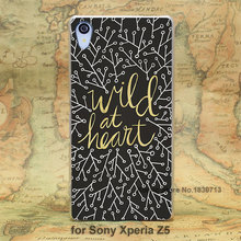 Wild at Heart Gold on Black hard transparent clear Skin Cover Case for Sony Xperia z5 compact z5 premium z4 z3 z2 z1