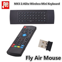 MX3 2.4Ghz Wireless Mini Keyboard Fly Air Mouse IR Learning Remote Controller For Android TV Box MX3(China)