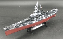 1:1000 WWII America BB-60 USS Alabama model Alloy collection model Holiday gift