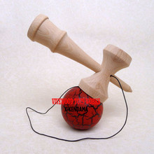 Wine Red/Black Crackle Kendama, Pro No Rivet Kendama with Traditional Assembly Ken,Classic 18CM Beech Wood Kendama USA