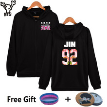 BTS Kpop Women Hoodies Sweatshirt Zipper Korea Bangtan Boys Coat Hip Hop Hoodies Women Sweatshirt Female Fams Winter Clothes