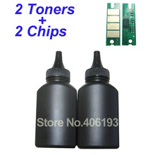 2 Toners + 2 Chips for Ricoh SP150 SP 150 SP150su SP150w SP150suw SP150 su SP150 w SP150 suw SP 150su Refill Toner Powder(China)