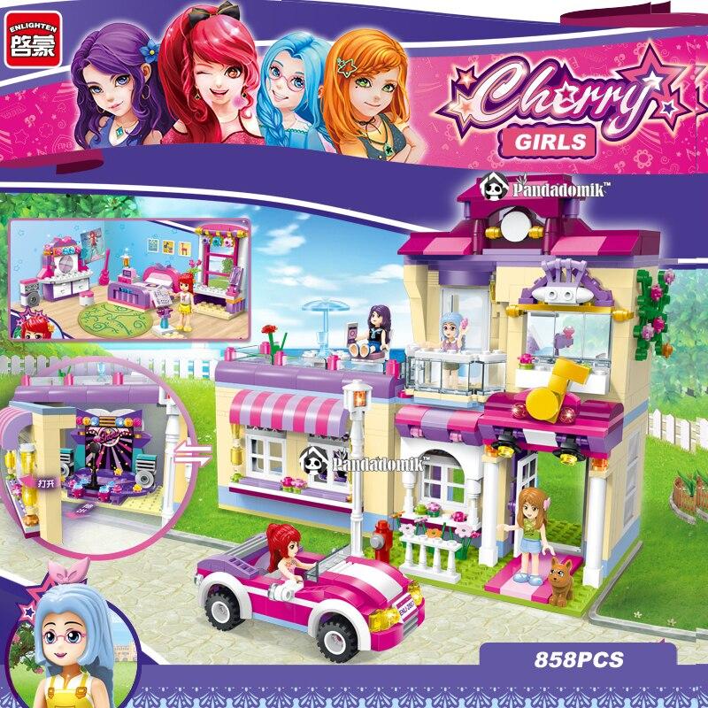 Enlighten Large 858pcs Building Blocks Toys for Girls Friends Star Center House Constructor set Toy Bricks Compatible lepin<br>