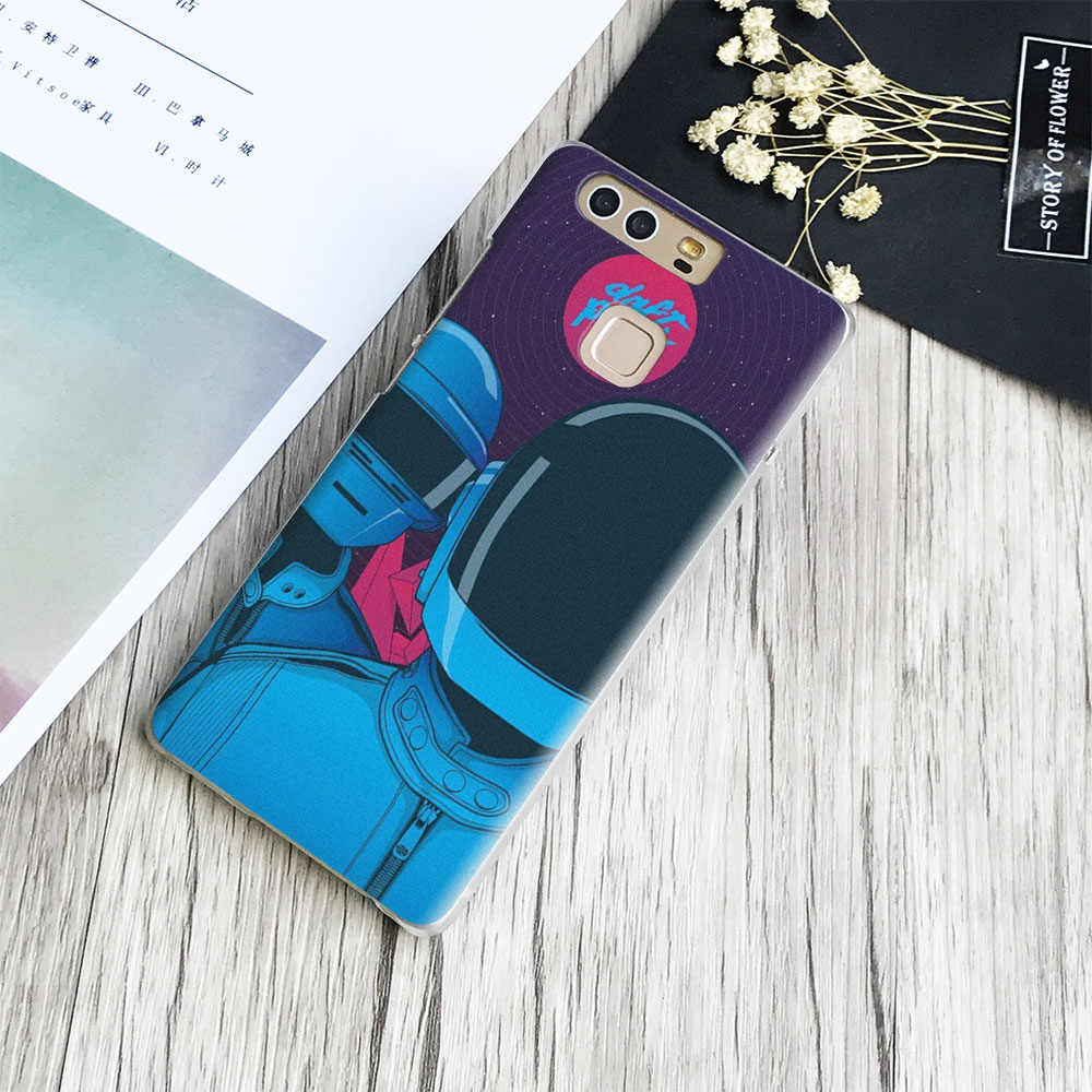 Daft Punk Electronic duo Phone Case Cover Shell For Huawei P8 9 10 Lite 2017 Honor 6x 8 V8 V9 Mate 7 8 9 10 Pro Nova Plus 2