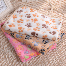 Cute Warm Pet Bed Mat Cover Small Medium Large Towl Paw Handcrafted Print Cat Dog Fleece Soft Blanket Puppy Winter Pet Supplies