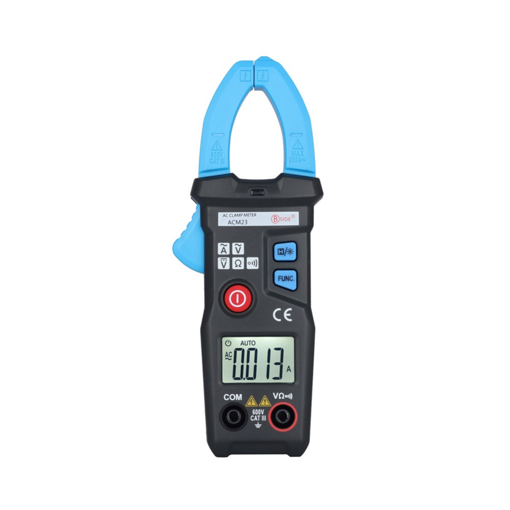 Bside ACM23 Automatic Mini Digital AC Clamp Meter 6000 Counts 200A 600V Tester<br><br>Aliexpress