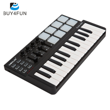High Quality Panda mini Portable Mini Keyboard and Drum Pad 25-Key USB MIDI Controller with Durable USB Cable