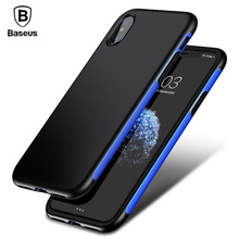 Baseus Armor Case For iPhone X 10 Capinhas Luxury TPU + TPE Protective Back Cover Bumper Case For iPhoneX Coque Funda Shell(China)
