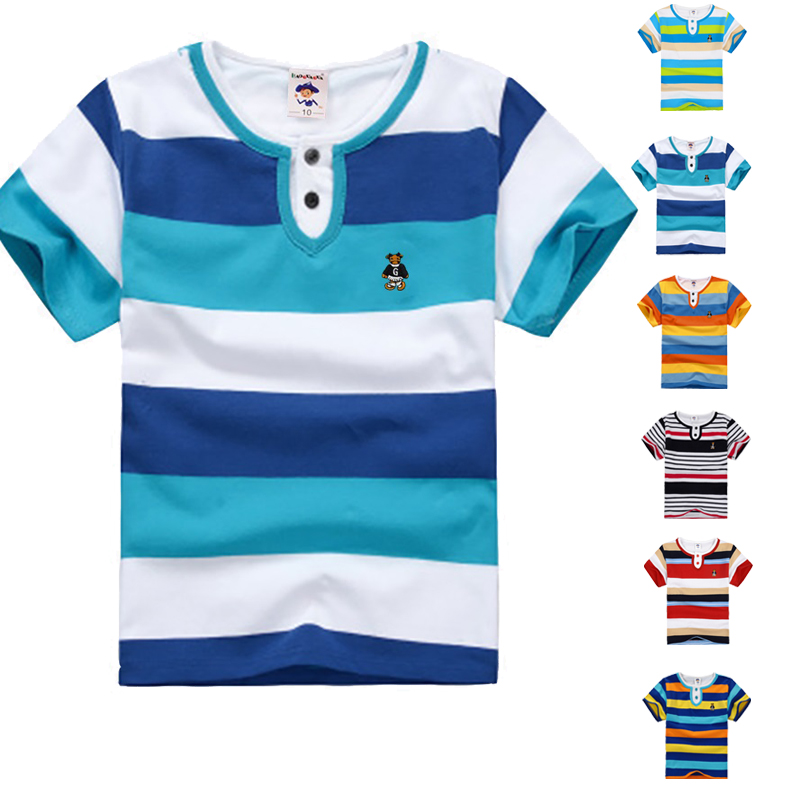 High Quality Breathable Boys T Shirt Name Brand children clothing Kids Fashion Clothes Short Sleeve Cotton Summer Girls T-Shirts(China (Mainland))