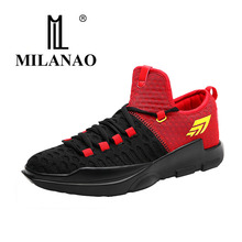 2017 MILANAO Men's High Quality Sneakers Basketball Training Boots Outdoor Basketball Shoes Hot Sale damping Breathable Sneakers
