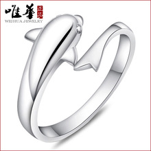Only China 925 sterling silver ring opening for dolphin lovers romantic fashion manufacturers one generation(China)