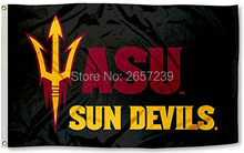 Arizona State Sun Devils ASU University Flag 3x5FT NCAA banner 100D 150X90CM Polyester brass grommets custom66,free shipping(China)