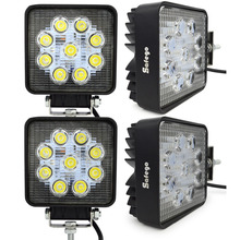 4 pcs led tractor work lights 27w 9pcs*3w Epistar led work lights for boats ,4x4 ,off road ,motor,tractor work lights(China)