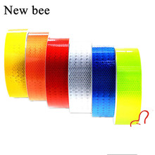 Newbee 5*100cm Safety Reflective Strip Sticker Car-Styling Self Adhesive Warning Tape Automobile Motorcycle Film Baby Car Decal