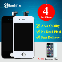Bluehfixr A++ Quality LCD for iPhone 4 Display Touch Screen Digitizer Assembly Black/White For iPhone 4 LCD Screen Free Shipping
