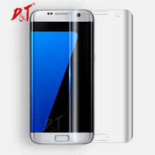 3D Full Cover Screen Protector For Samsung Galaxy S7 Edge S6 Edge S8 Plus Toughed PET Film (Not Tempered Glass)Curved Round Edge