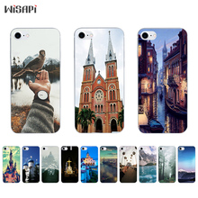 Buy Silicone Case iPhone 7 7plus 8 X 10 Shell iPhone 5s 5c SE 6 6s 6plus Case Transparent TPU Bumper Retro Building Phone for $1.48 in AliExpress store