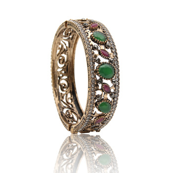 Simulation Jewelry Women Turkish Bangles Flower Cuff Resin Bracelets Arab Ethnic Antique Pulseiras Feminino Ladies Favorite Gift