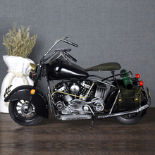 Classic Ironwork Vintage Big Size Motorcycle Collection Showcase Craftwork Retro Painting Motor Bike Model