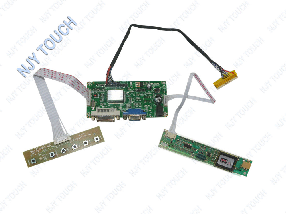 Free shipping DVI DVA LCD Controller Board LVDS Monitor Kit For AUO B154EW01 B154EW02 1280X800<br>
