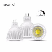 MR16 LED 12V AC / DC 12V -24V Spot light Bulb MR16 Dimmable MR16 COB LED lamp GU5.3 3W 5W 7W Aluminum Dimming Spotlight lighting