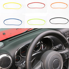 New Products for 7 Colors Car Interior Accessories ABS Dashboard Decoration Ring Trim for Jeep Wrangler 11 up