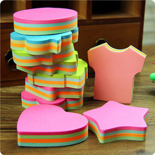 Clover Apple Clothes Shape Sticky Notes School Chancery Stickers Scrapbooking Green Pink Blue 100 Page Planner Stickers