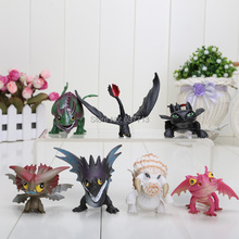 How to Train Your Dragon 2 Dragon Toys Night Fury Toothless PVC Action Figure Toys Dolls 7pcs/set